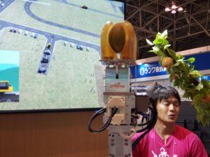 自動梨収穫機